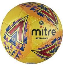 Mitre EFL Delta Replica Training piłka nożna, biały, żółty BB1981YPR-5
