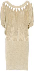 Bonprix Sukienka beżowo-złoty