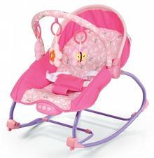 Baby Mix Leżaczek niemowlęcy z muzyką i wibracją BR212-18 RÓŻOWY 43269