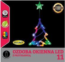 Bulinex Choinka na okno LED Bulinex na baterie multikolor 11 lampek 10-511