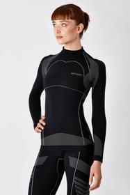 SPAIO-Bielizna termoaktywna SPAIO MOTO LINE W03 Damska koszulka termoaktywna motocyklowa czarna : Rozmiar - S SPAJO0902