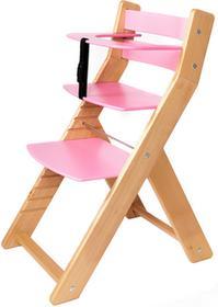 Wood Partner Krzesło rosnące dla dzieci UNIZE naturalny/różowy