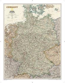 National Geographic Niemcy Executive polityczna mapa ścienna, 1:1 375 000