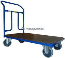 WIZ Wózki Wózek platformowy jednoburtowy, poręcz przykręcana. Wym. 1000x600mm (Ładowność: 250kg)