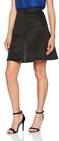 Intimuse intimuse talerz spódnica o wyglądzie z neoprenu dla kobiet, krótka spódnica w kolorze czarnym, minispódniczce na lato -  A-linie l czarny (schwarz 001) B01MUQUOI8
