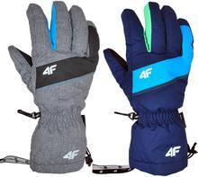 4F Rękawice narciarskie męskie REM001 - fuksjowy