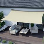 Jarolift Żagiel przeciwsłoneczny, prostokątny, z tkaniny wodoodpornej, biały, 300x200 cm