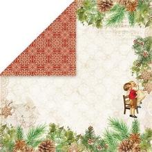 Świąteczny papier Vintage Christmas 30x30 cm - 05