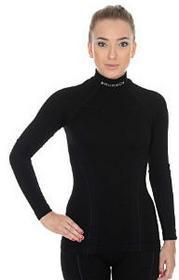 Brubeck Bluzka damska z długim rękawem Extreme Wool czarny P-BRU-WOOL15-LS11930-954-{3}S