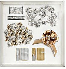 briz zolari świata Bijoux Shop Box, tworzywo sztuczne, biały/srebrny/złoty, 29x 38x 16cm