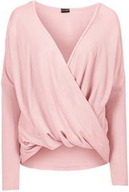Bonprix Sweter dzianinowy pastelowy jasnoróżowy