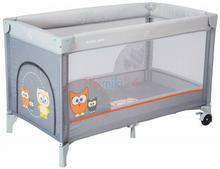 Alexis HR-8052-172 łóżeczko turystyczne jednopoziomowe SOWA szara 768266