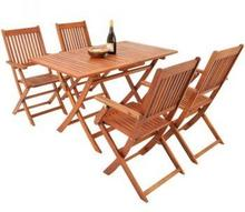 Meble drewniane ogrodowe zestaw 1 stół + 4 krzesła