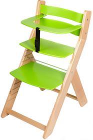 Wood Partner Krzesło rosnące dla dzieci UNIZE naturalny/zielony