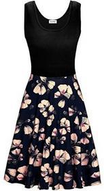 KorMei kormei damska sukienka damska bez rękawów przypadkowy na plażę sukienka letnia Tank wydany przez sukienka na ramiączkach do kolan -  A-linie s B071VKZL41