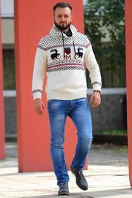 Sweter męski ALEX ECRU 0005001-47