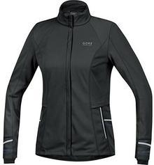 Gore Running Wear damskie Soft Shell kurtka do biegania, Gore WINDSTOPPER, Mythos Lady 2.0 WS, dzięki czemu Jacket, jwsmyl, czarny, 38 JWSMYL990008