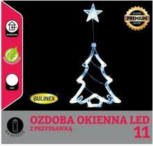 Bulinex Choinka na okno LED Bulinex na baterie biały 11 lampek 10-512