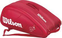 Wilson Federer DNA 12 Pk Bag - red WRZ830712