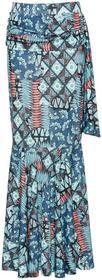 Bonprix Spódnica niebieski wzorzysty