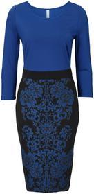 Bonprix Sukienka ołówkowa ciemnoniebiesko-czarny
