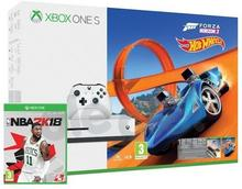 Microsoft Xbox One S 500 GB Biały + Forza Horizon 3 + Forza Horizon 3 Hot Wheels + NBA 2K18