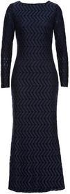 Bonprix Sukienka koronkowa, długa niebieski