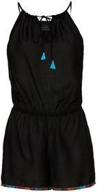 Bonprix Kombinezon plażowy z krótkimi nogawkami czarny