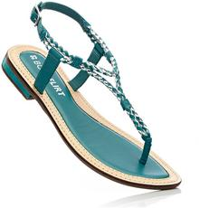 Bonprix Sandały skórzane turkusowy