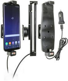 Brodit AB Uchwyt do Samsung Galaxy S8 Plus w futerale z wbudowanym kablem USB oraz ładowarką samochodową 521965