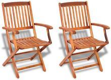 vidaXL vidaXL Krzesło ogrodowe jadalniane z drewna akacjowego, 2 szt.