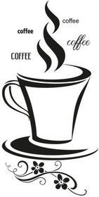 Oobrazy Cytaty, Coffee, Naklejka ścienna, 50x100 cm