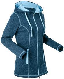 Bonprix Bluza rozpinana dzianinowa z polaru, długi rękaw ciemnoniebieski melanż