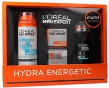 Men Expert Hydra Energetic zestaw krem nawilżający przeciwko oznakom starzenia 50ml + Hydra Sensitiv