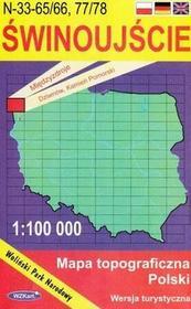 WZKart Świnoujście mapa 1:100 000 WZKart