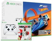 Microsoft Xbox One S 500 GB Biały + Forza Horizon 3 + Forza Horizon 3 Hot Wheels + NBA 2K18 + 6M Live Gold