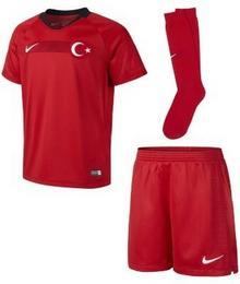 Nike Strój piłkarski dla dużych dzieci 2018 Turkey Stadium Home - Czerwony 894048-657