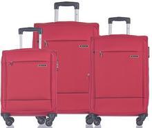 Puccini Zestaw trzech walizek EM-50720 Parma czerwony Zestaw EM-50720 ABC 3