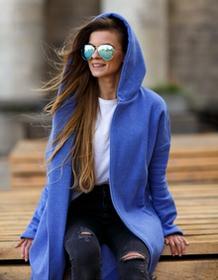 MKTP Bluza długa niebieski melanż