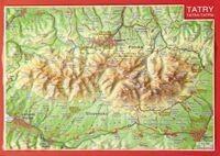 Pocztówka Tatry mapa plastyczna - Lider Serwis