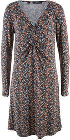 Bonprix Sukienka z długim rękawem ciemnoniebieski w kwiaty