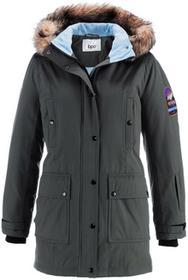 Bonprix Długa kurtka outdoorowa antracytowy