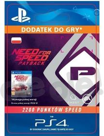 Need for Speed Payback 2200 Punktów Speed PS4 wersja cyfrowa