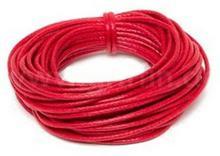 Griffin Griffin WAXED COTTON CORD Bawełniany sznurek woskowany 0,8mm 5m - Red