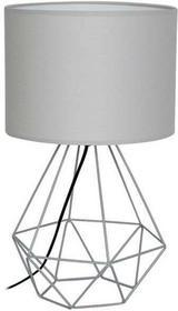 Milagro Druciana LAMPA stołowa ALAMBRE 1116 abażurowa LAMPKA stojąca drut szary 1116