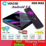 H96 MAX Smart TV Box Android 9.0 4GB RAM 64GB ROM RK3318 1080p 60fps H96Max 4K WiFi odtwarzacz