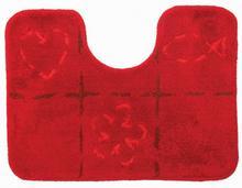 Dywanik łazienkowy z wycięciem pod WC 60 x 45 cm rood Sealskin Tack 293278659