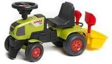 Jeździk/Chodzik FALK traktor Claas Axos 310 + zestaw do piasku Plastik
