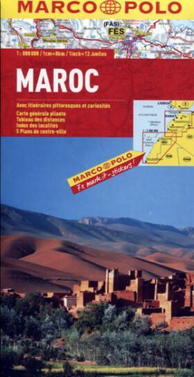 Maroko 1: 800 000  - mapa Marco Polo - Pascal