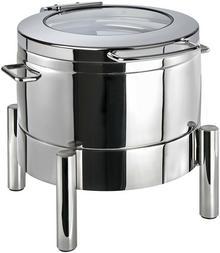 APS Podgrzewacz okrągły do potraw 440 x 480 x 390 mm ze szklaną pokrywą | Premium 12354